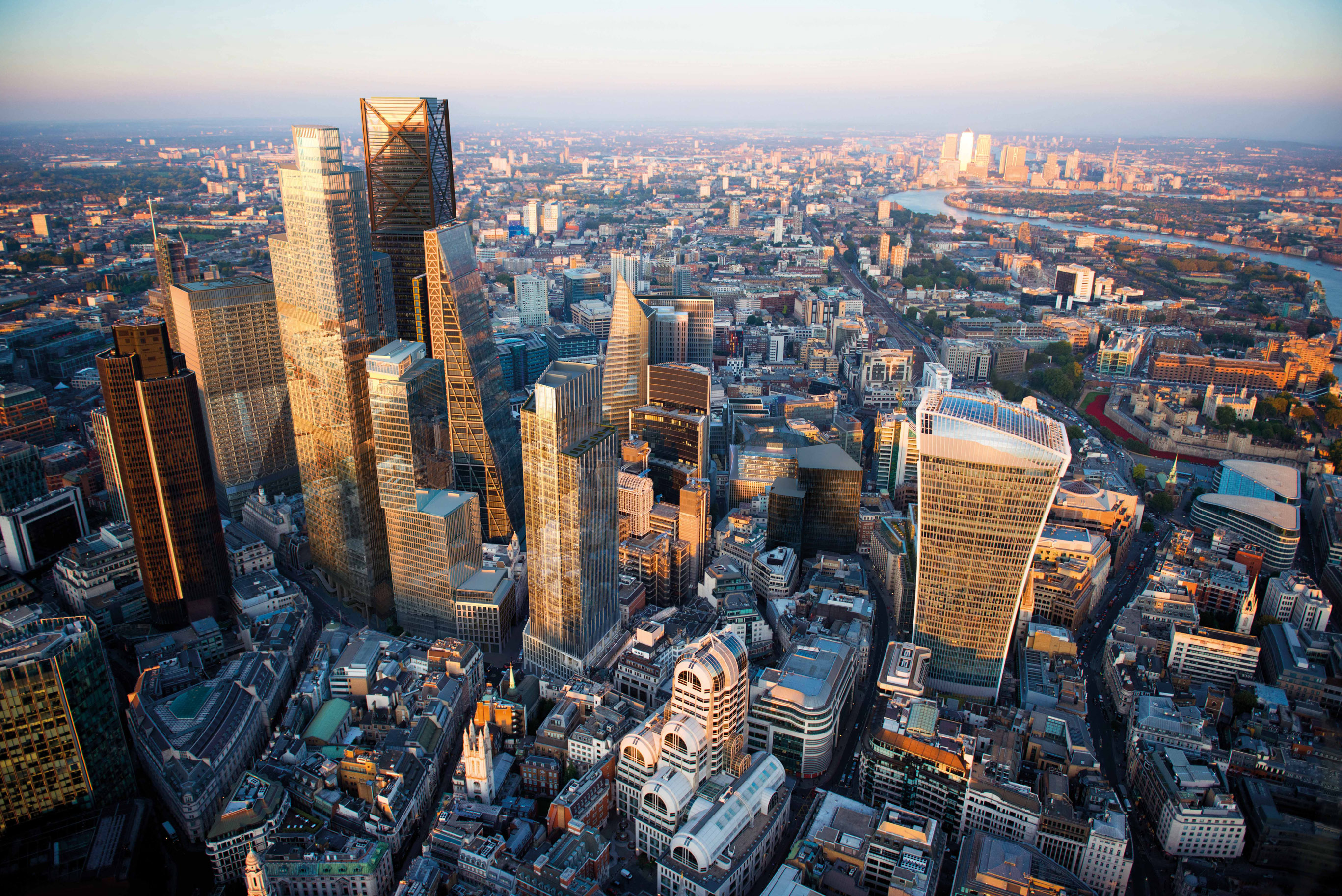 Aerial view of 1 Leadenhall